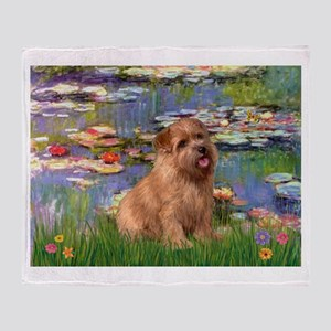 Lilies /Norfolk Terrier Throw Blanket